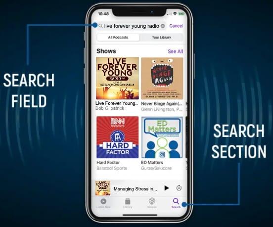 Apple Podcast search fields LFYR